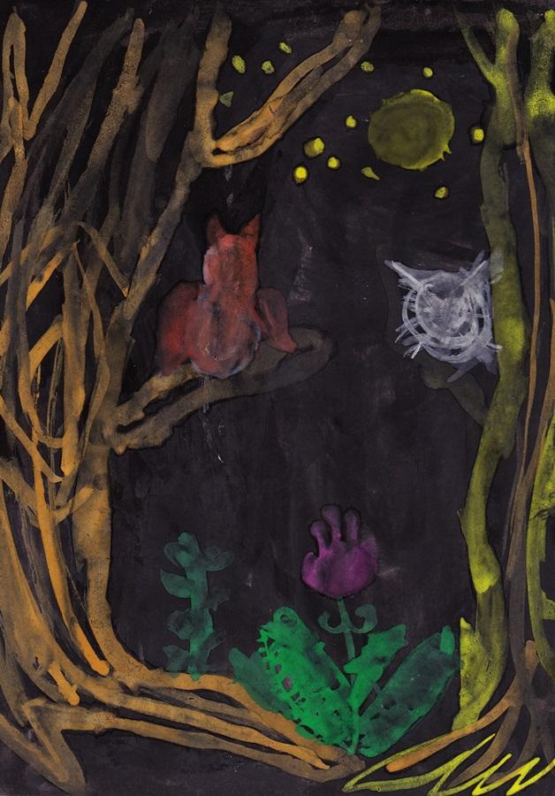 Night сhildren drawing