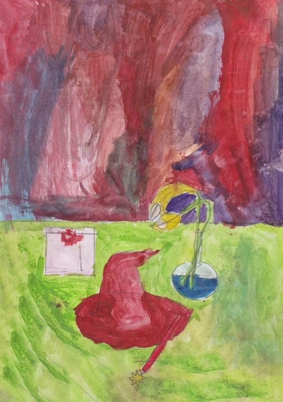 Still life сhildren drawing (5)