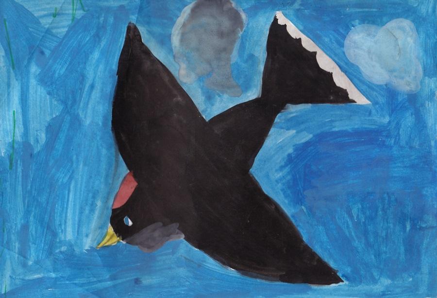 Swallow - сhildren drawing