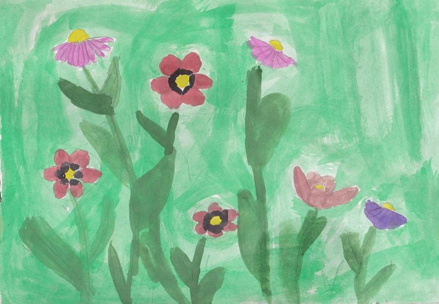 Wildflowers сhildren drawing (2)