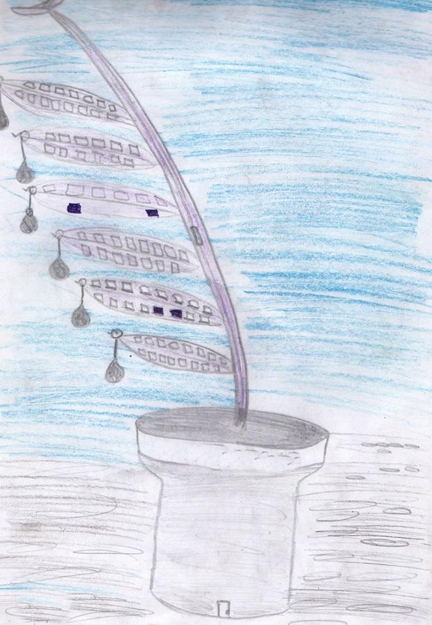 a fantastic plant сhildren drawing pencil(3)