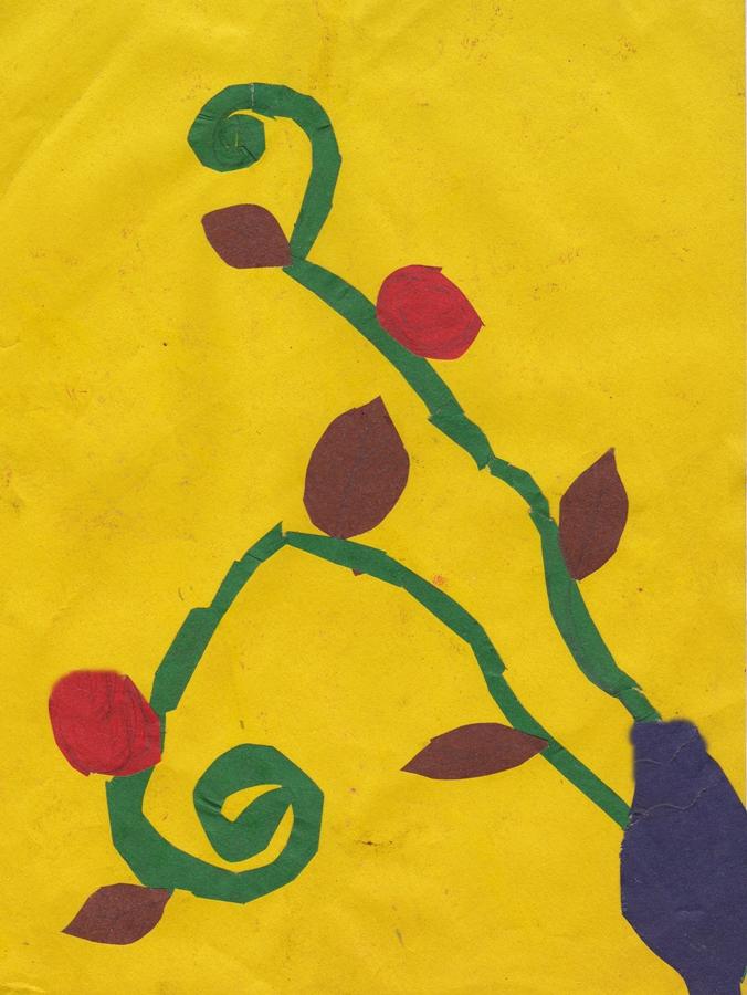 applique paper flowers сhildren drawing (96)