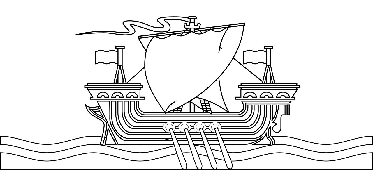 Boat coloring pages free for kids 2