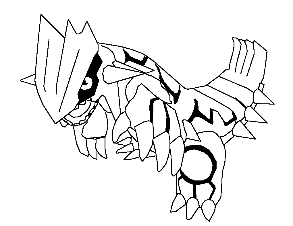 Cartoon-Coloring-Pokemon-Rayquaza-Coloring-Pages Angry