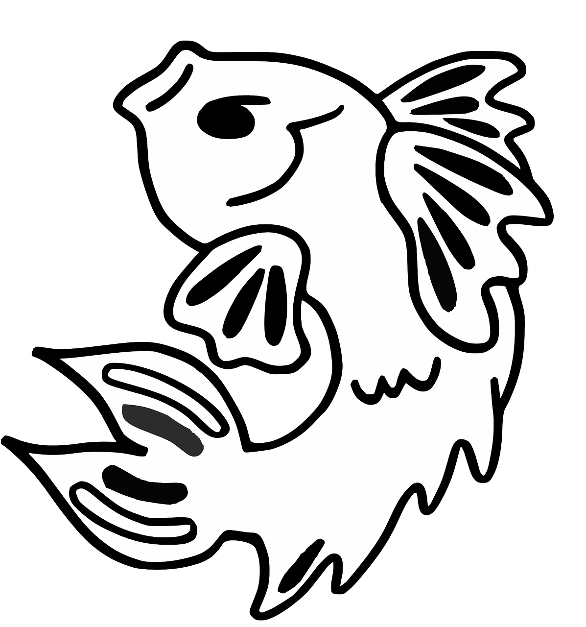 Fish coloring pages free for kids 6