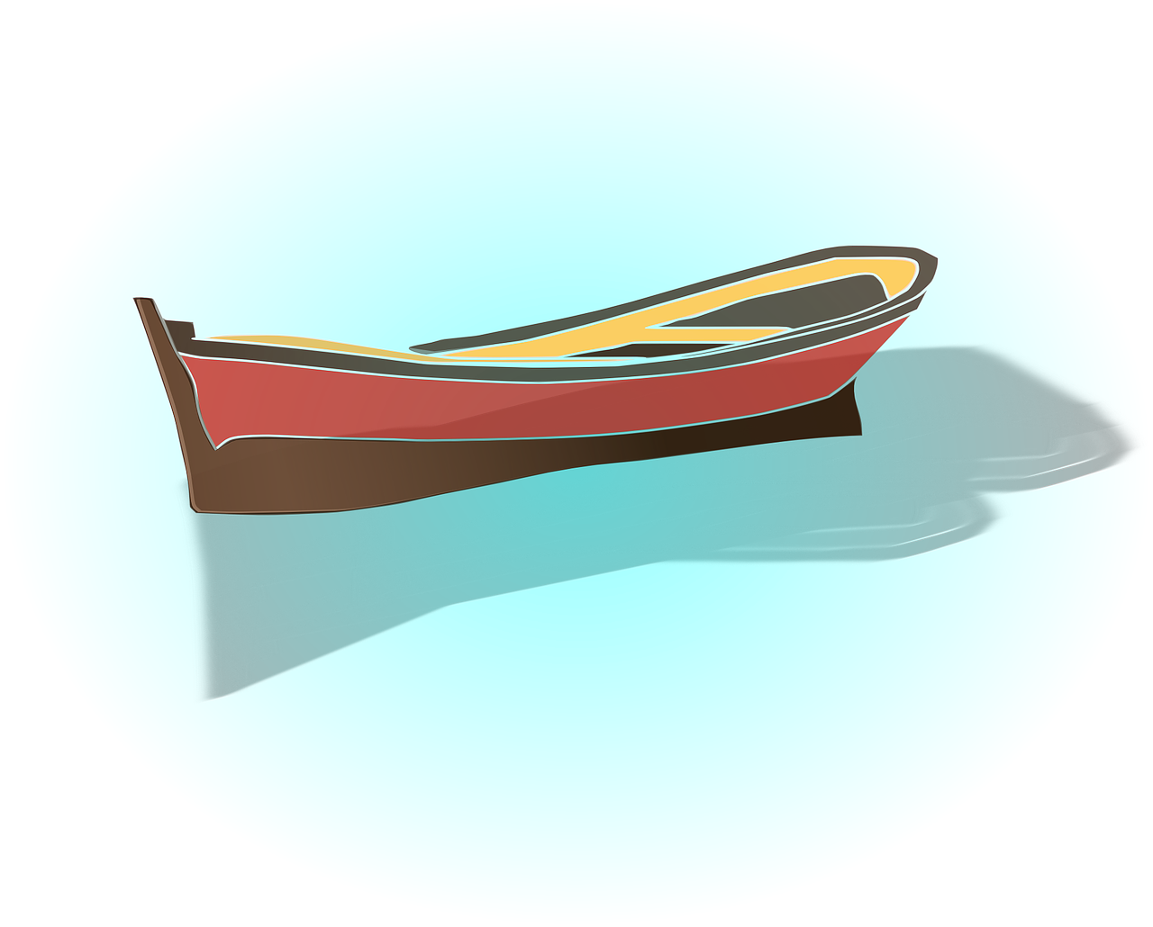 How to draw a boat 9