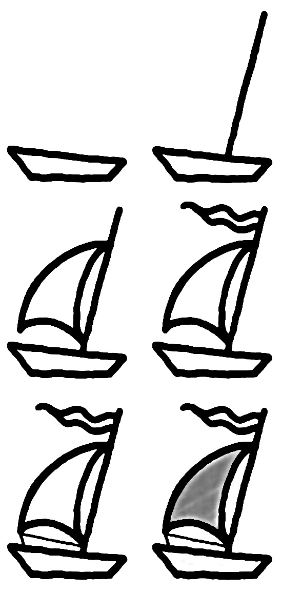 How to draw a boat step-by-step 10
