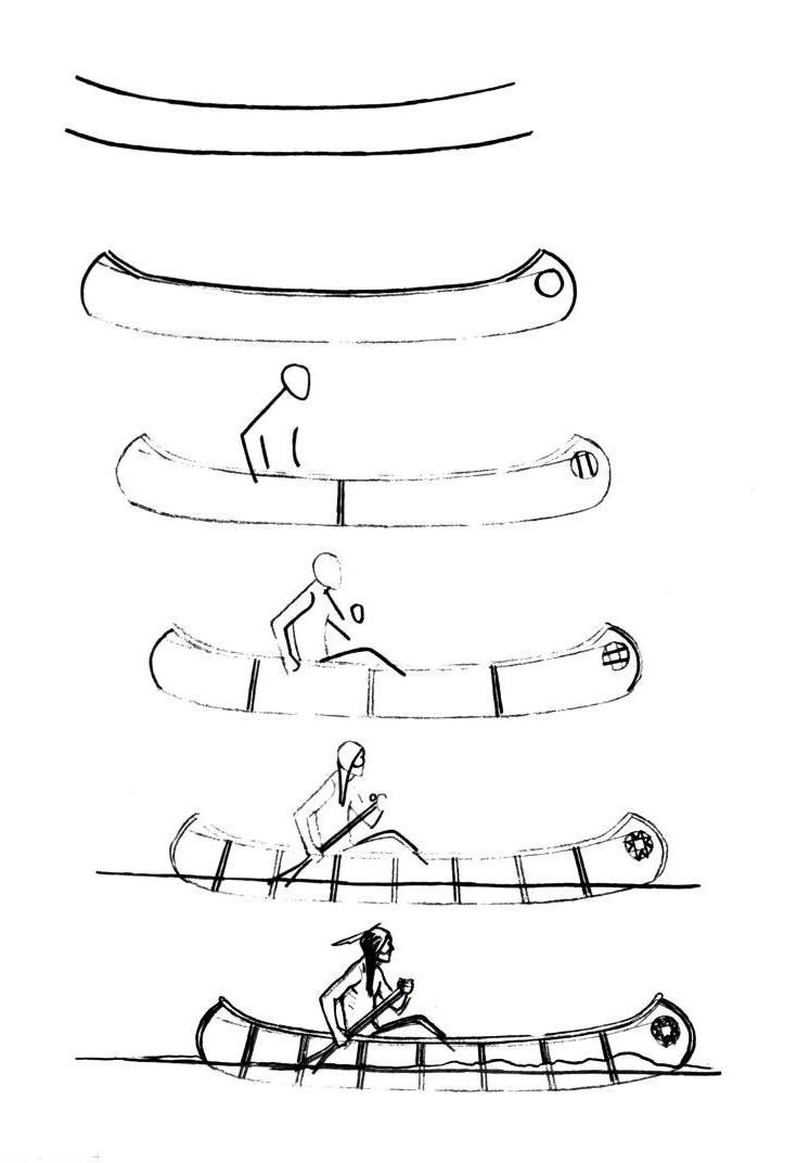 How to draw a boat step-by-step 3