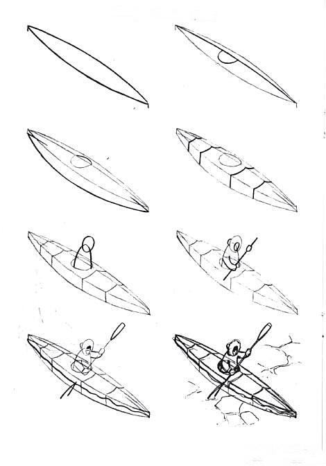 How to draw a boat step-by-step 6