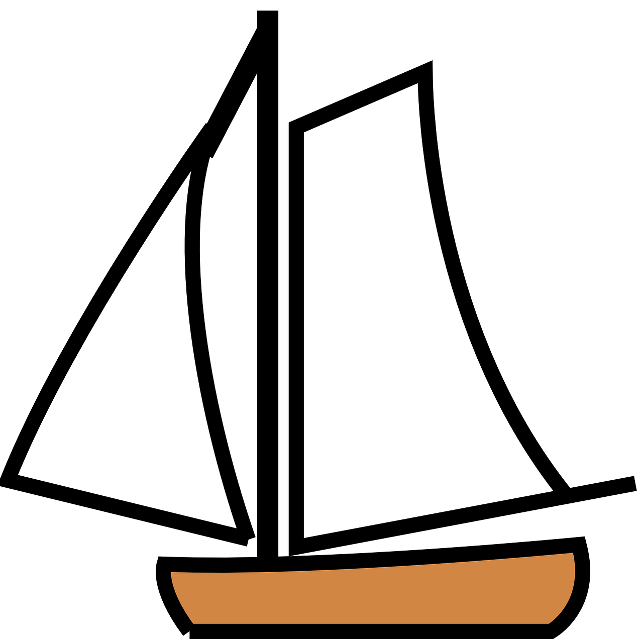 How to draw a boat. stencils 15
