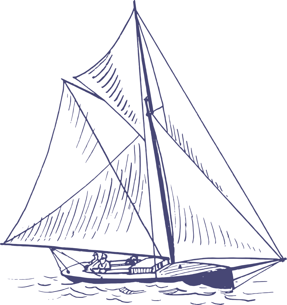 How to draw a boat. stencils 5