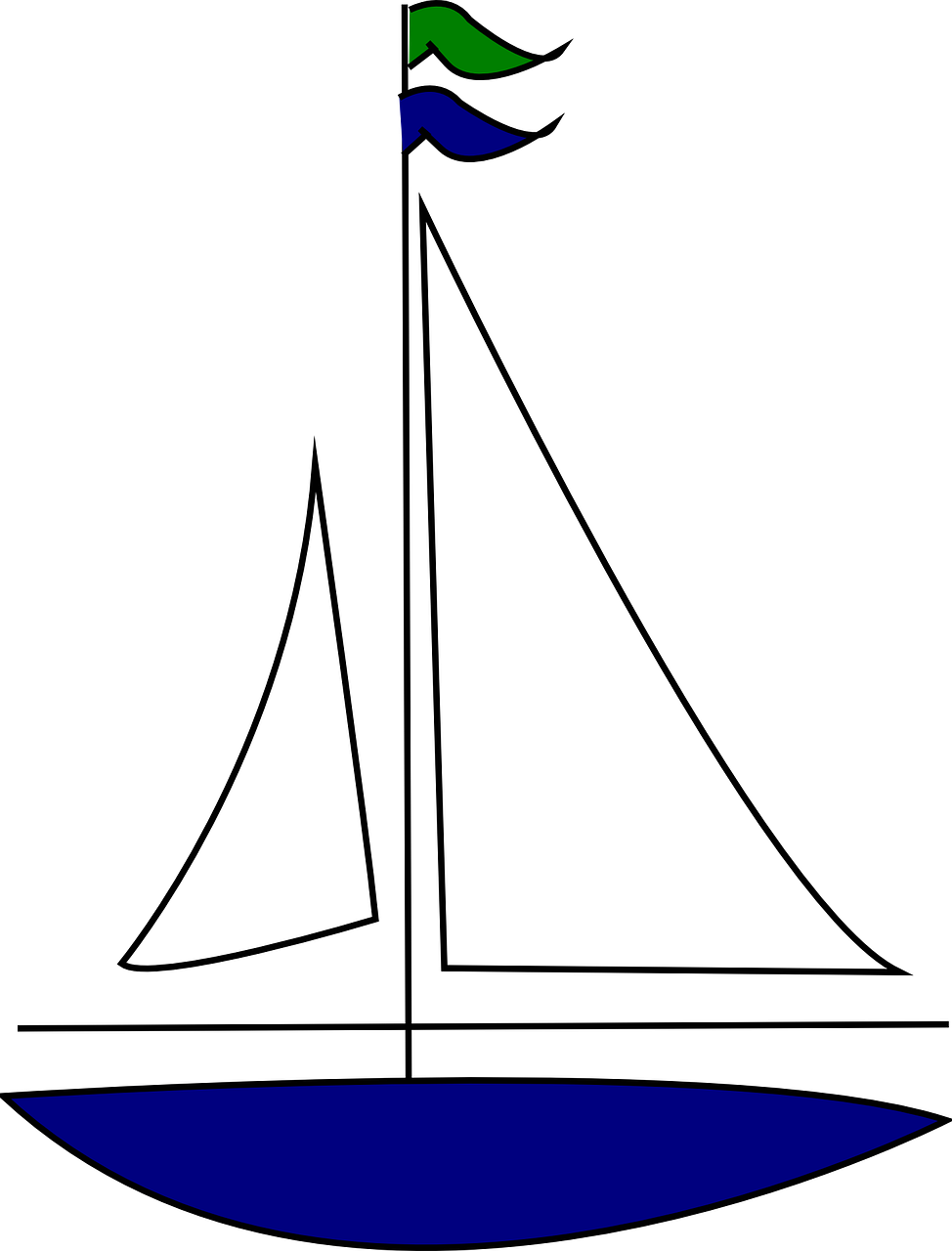 How to draw a boat. stencils 8