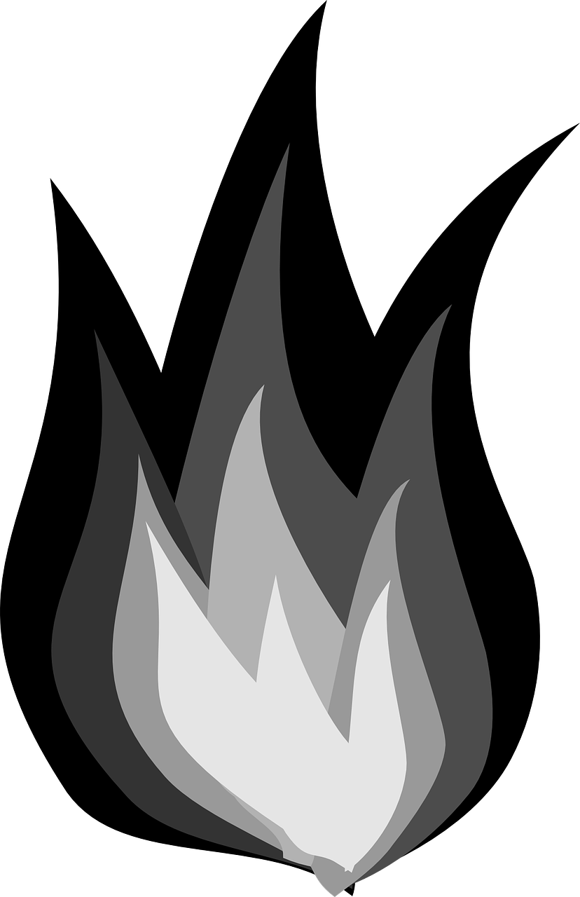 How to draw flames fire - free stencils 1