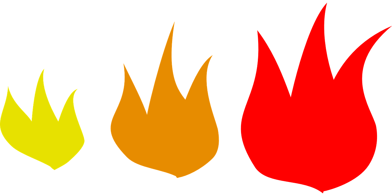 How to draw flames fire - free stencils 11