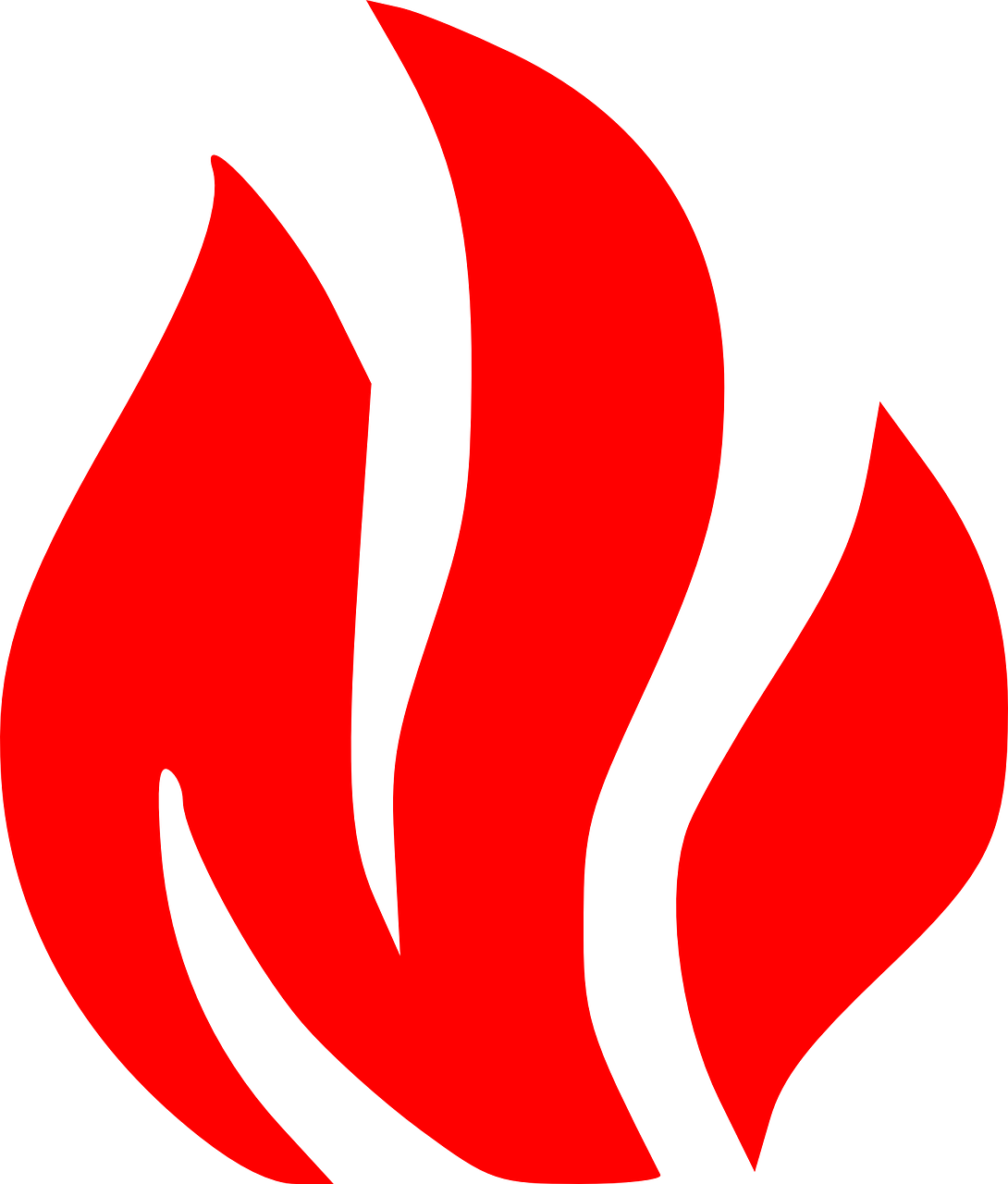 How to draw flames fire - free stencils 12