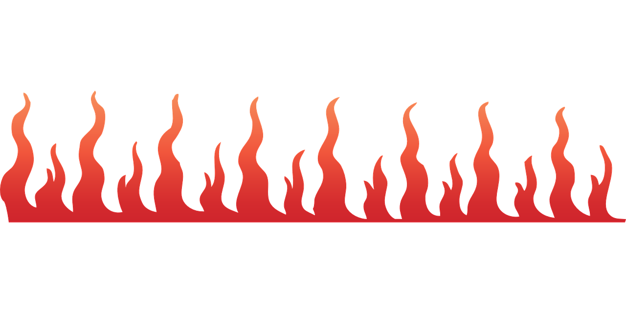 How to draw flames fire - free stencils 13