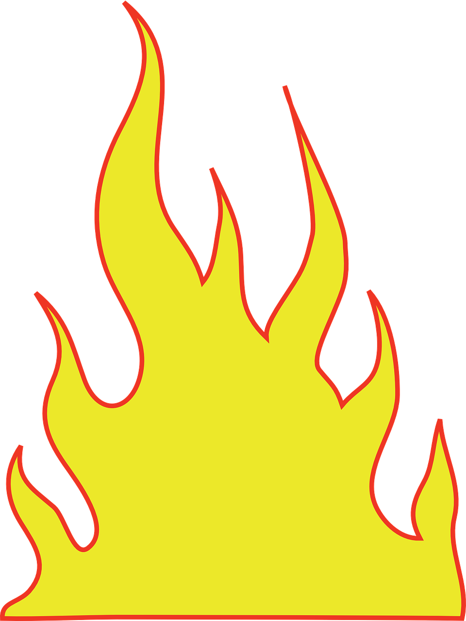 How to draw flames fire - free stencils 14