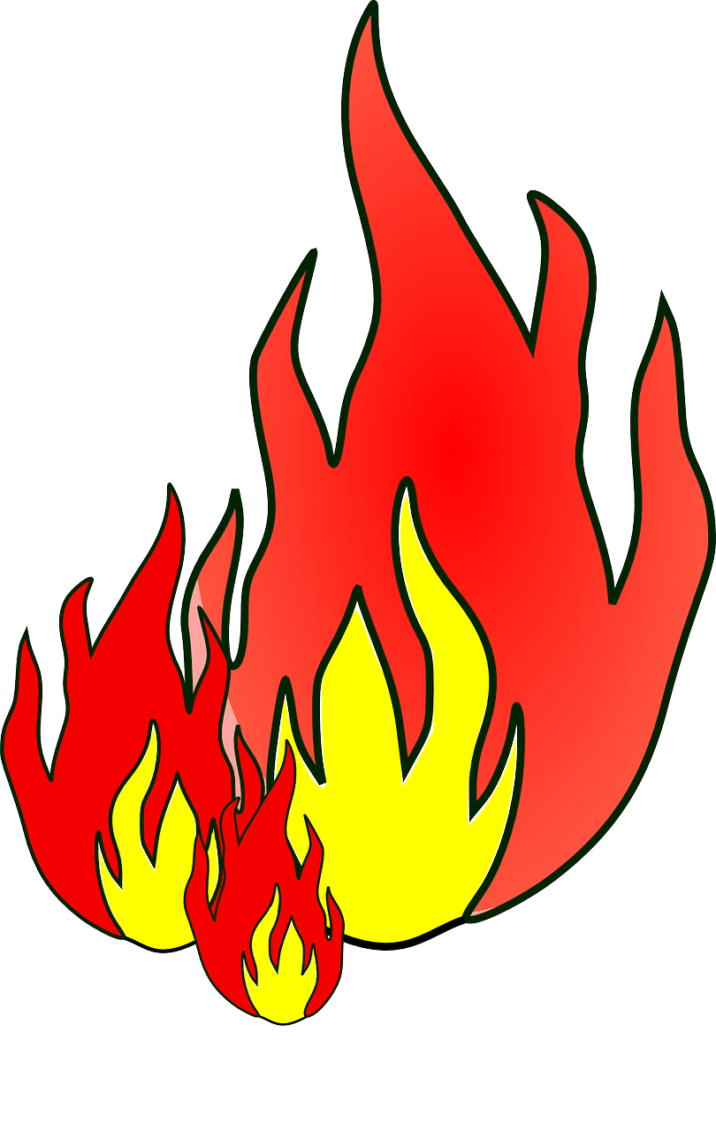 How to draw flames fire - free stencils 15