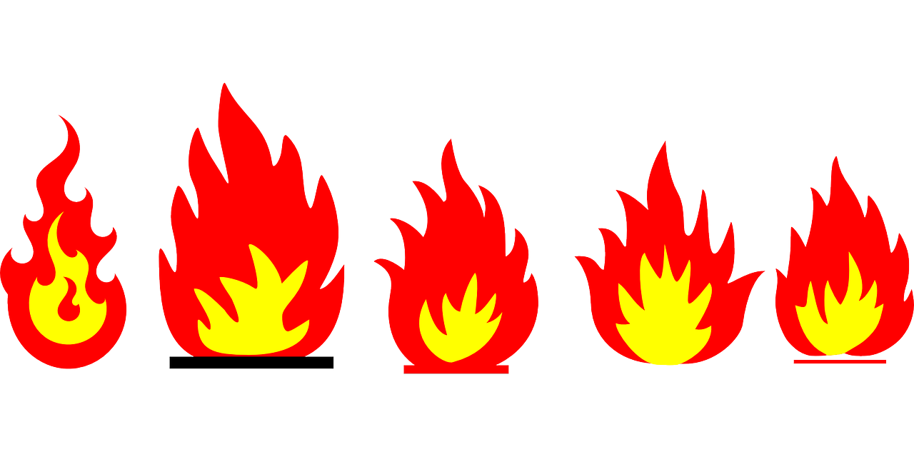 How to draw flames fire - free stencils 2