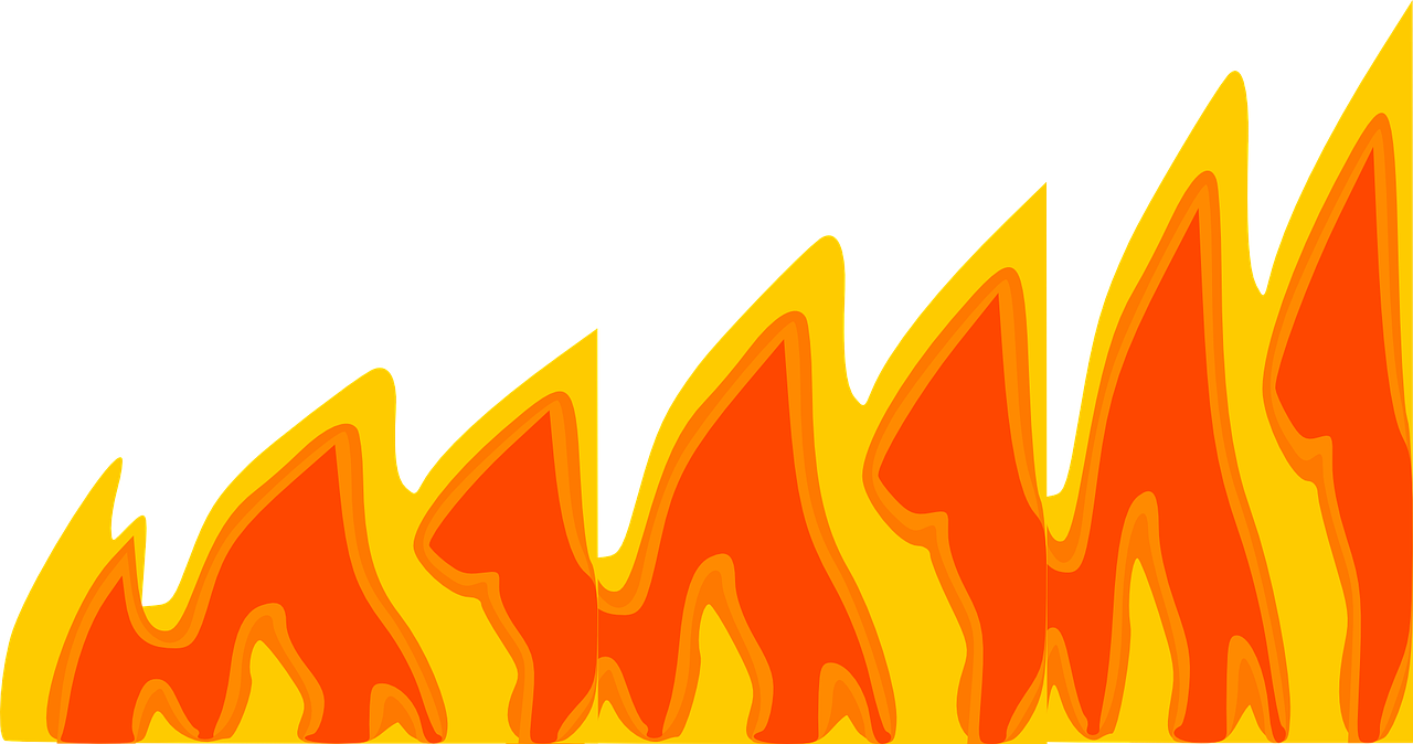 How to draw flames fire - free stencils 3