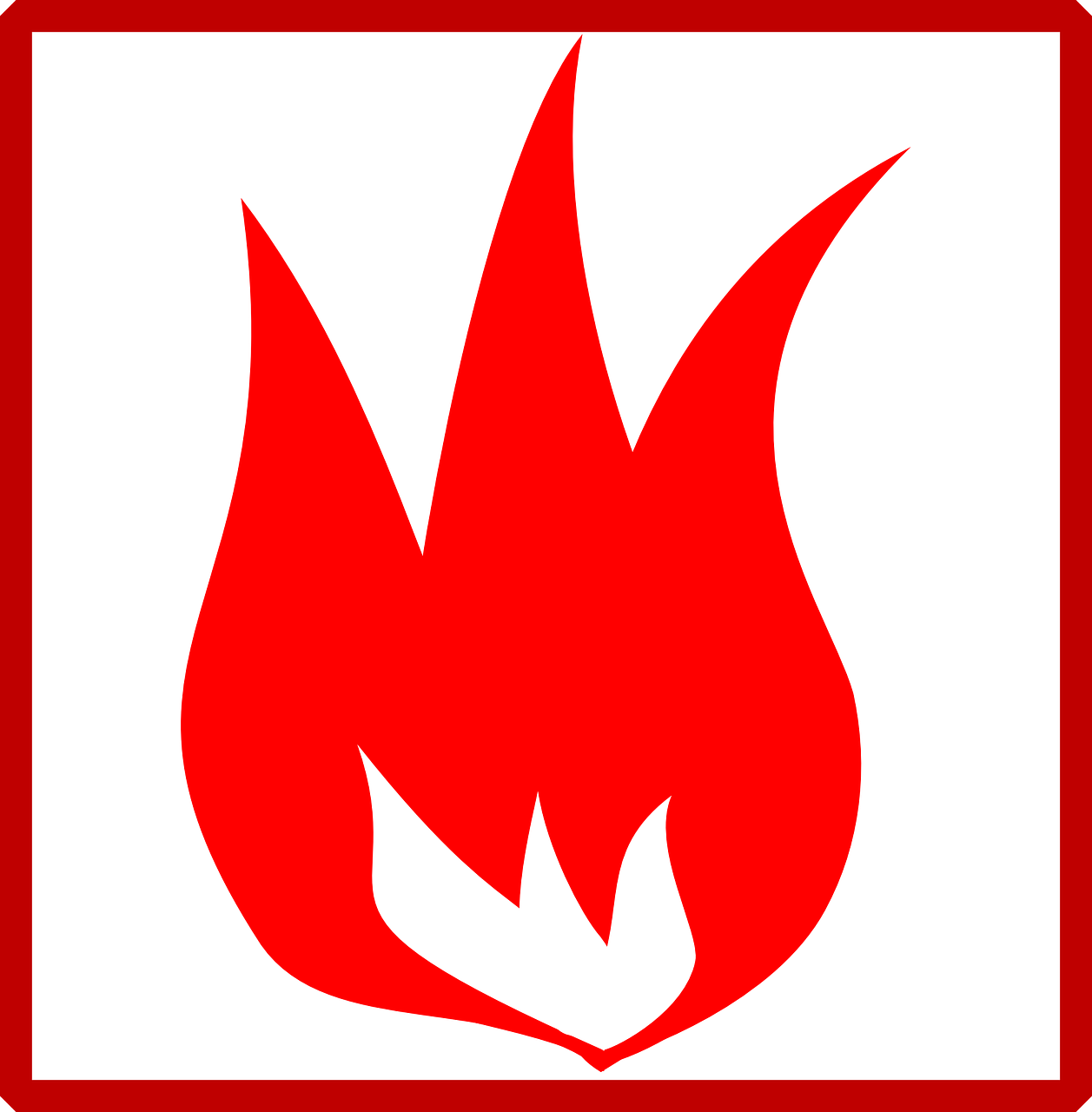 How to draw flames fire - free stencils 4