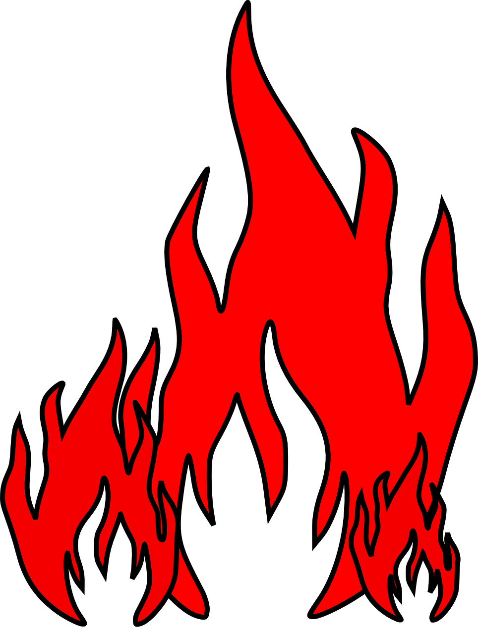 How to draw flames fire - free stencils 6