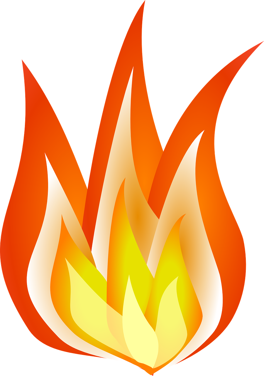 How to draw flames fire - free stencils 7