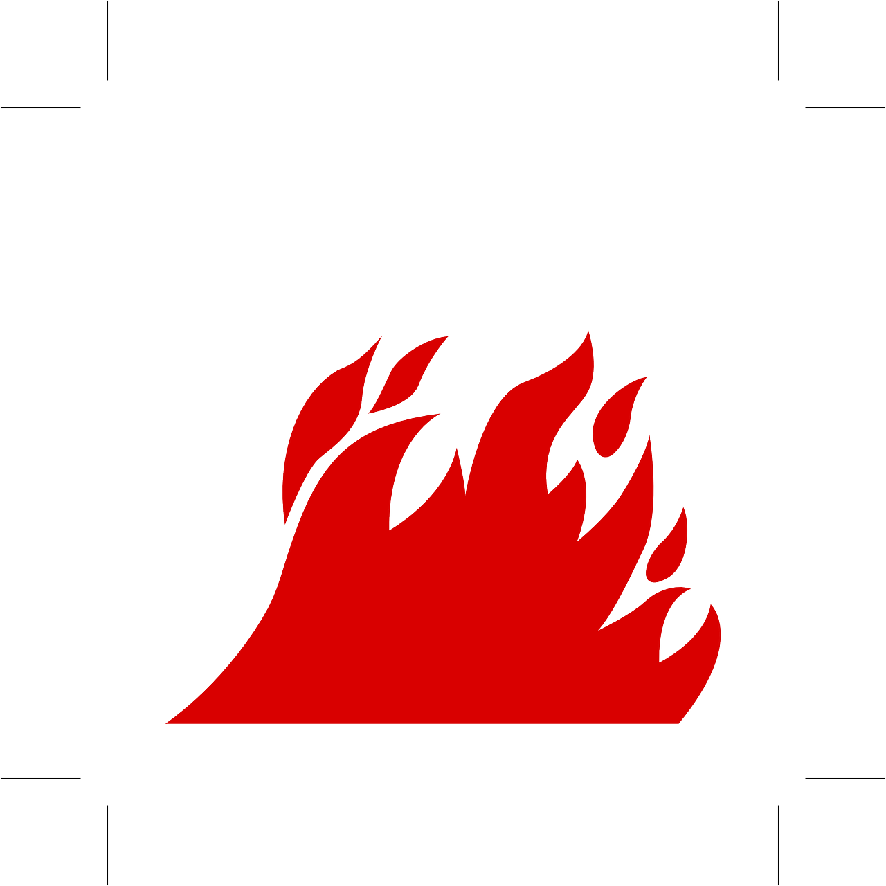 How to draw flames fire - free stencils 8