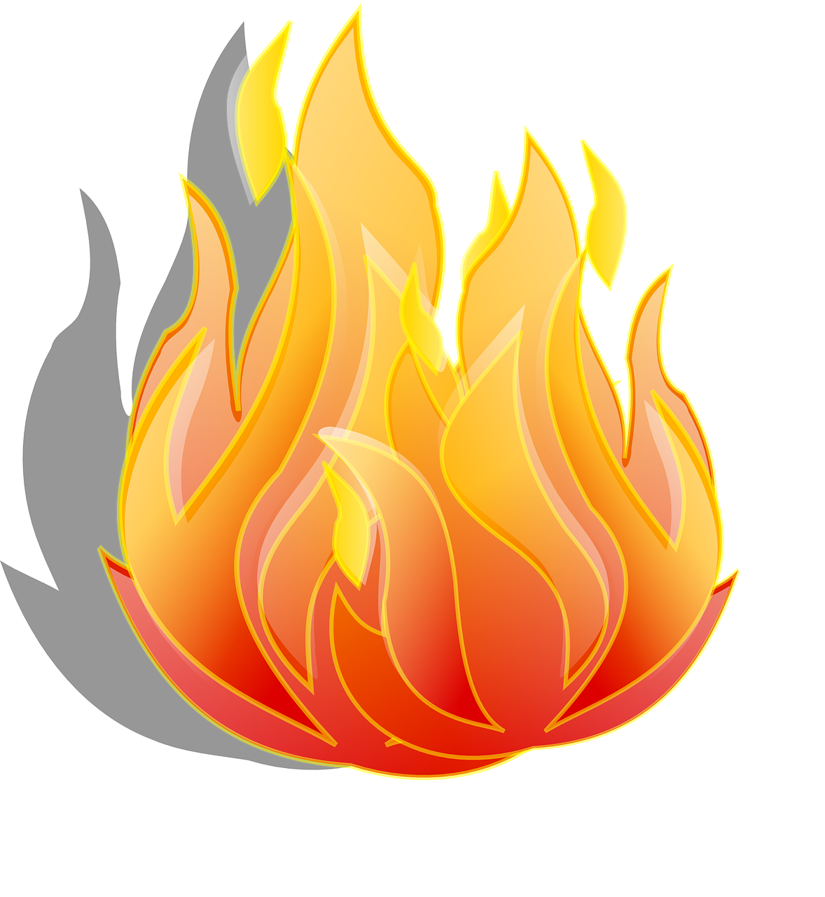 How to draw flames fire - free stencils 9
