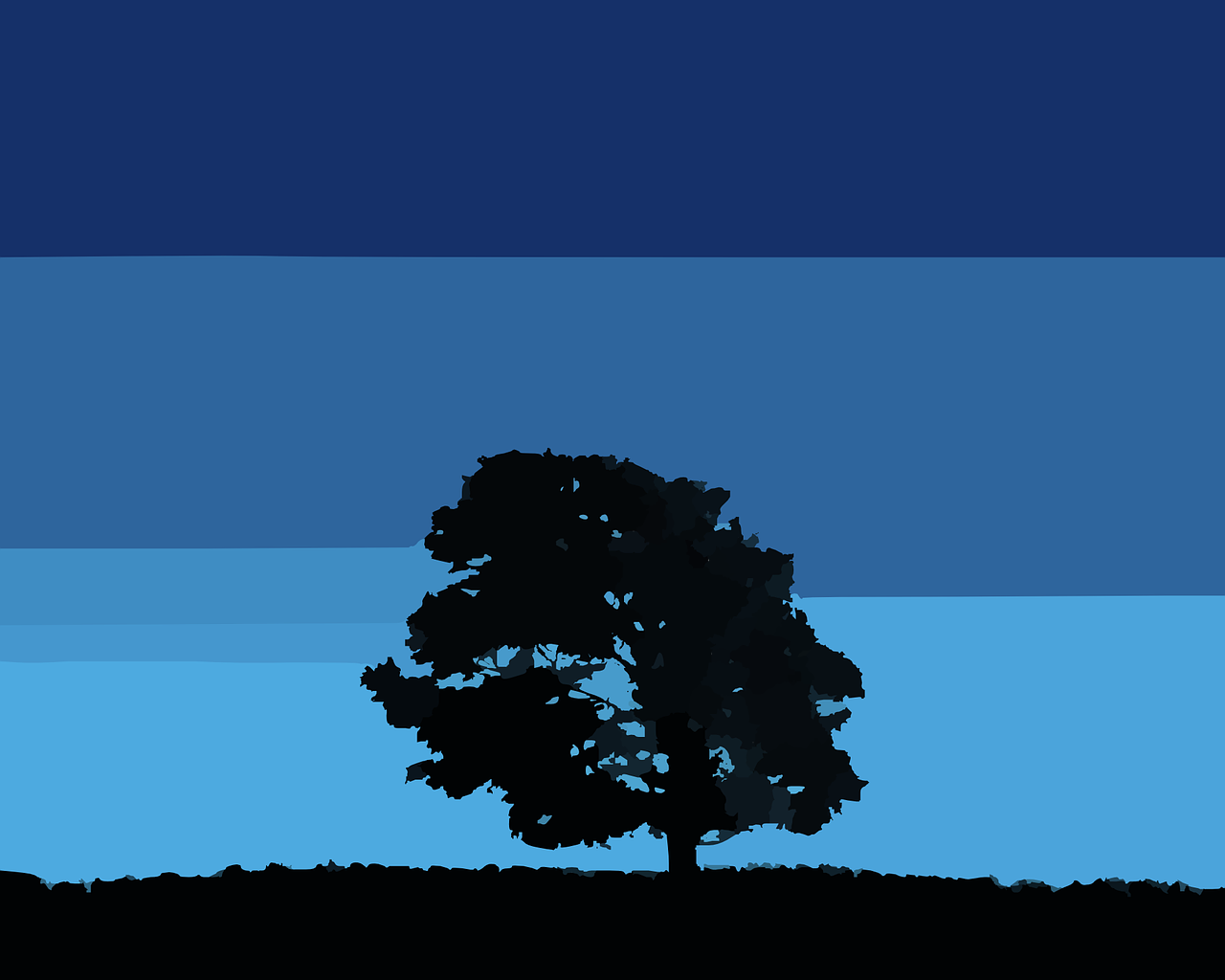 How to draw night, night landscape 1