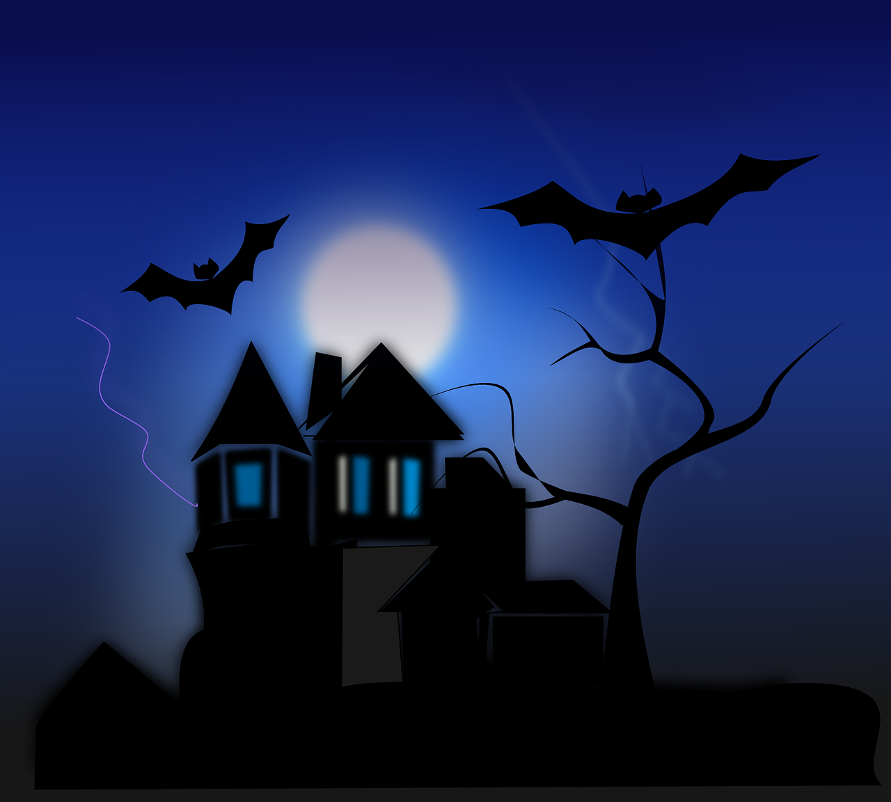 How to draw night, night landscape 13