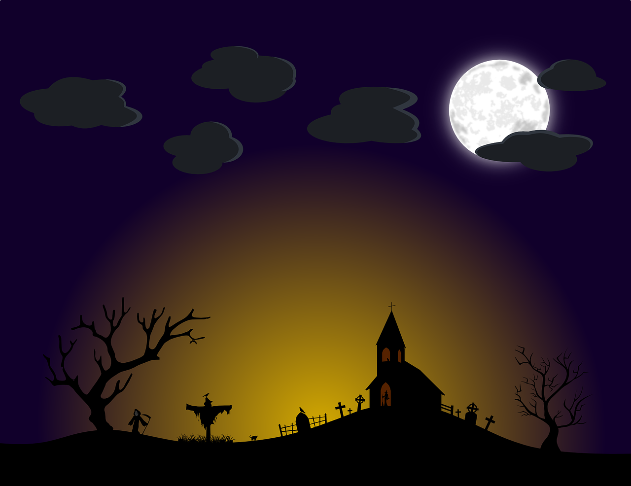 How to draw night, night landscape 4