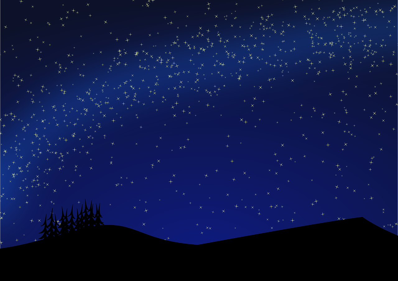 How to draw night, night landscape 8