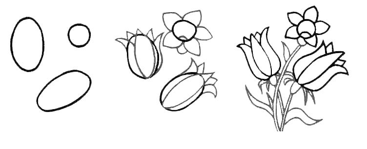 Wildflowers drawing 10
