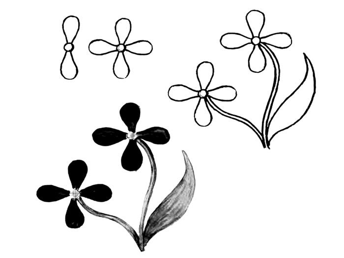 Wildflowers drawing 3