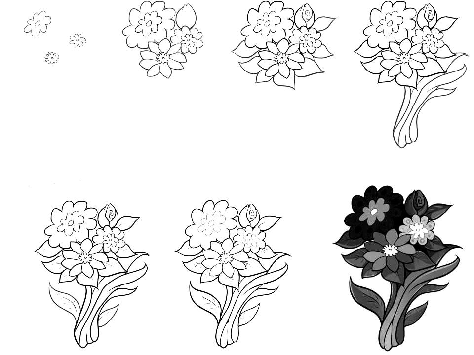 Wildflowers drawing 8