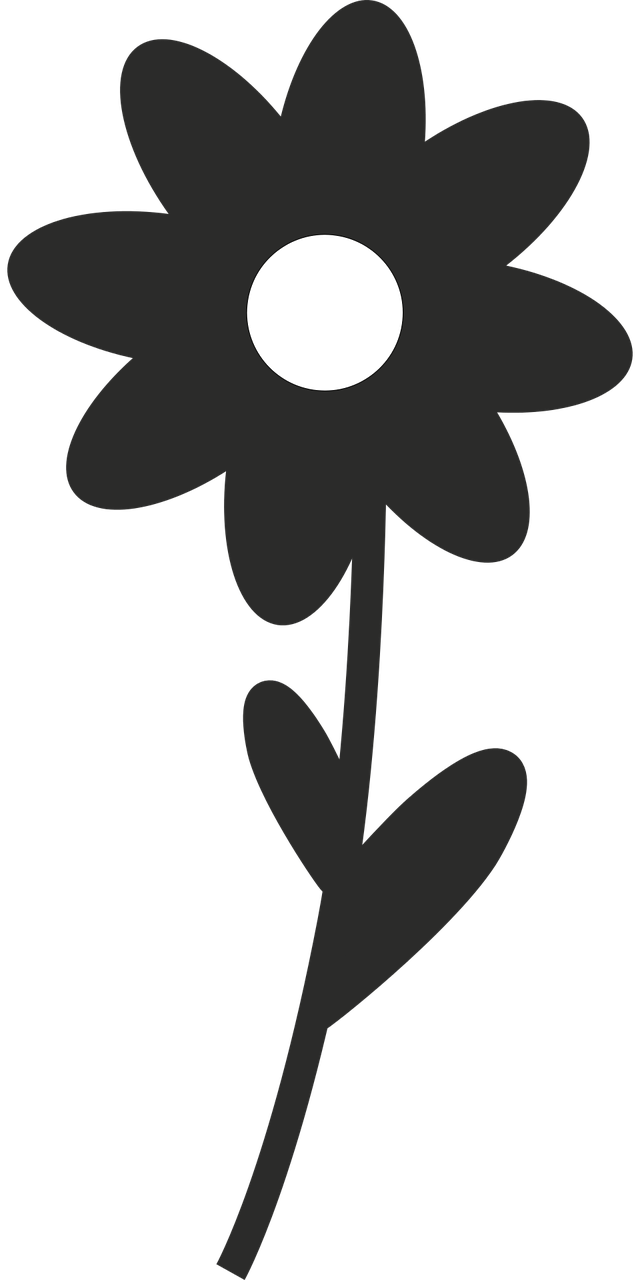 Wildflowers drawing - stencils 17