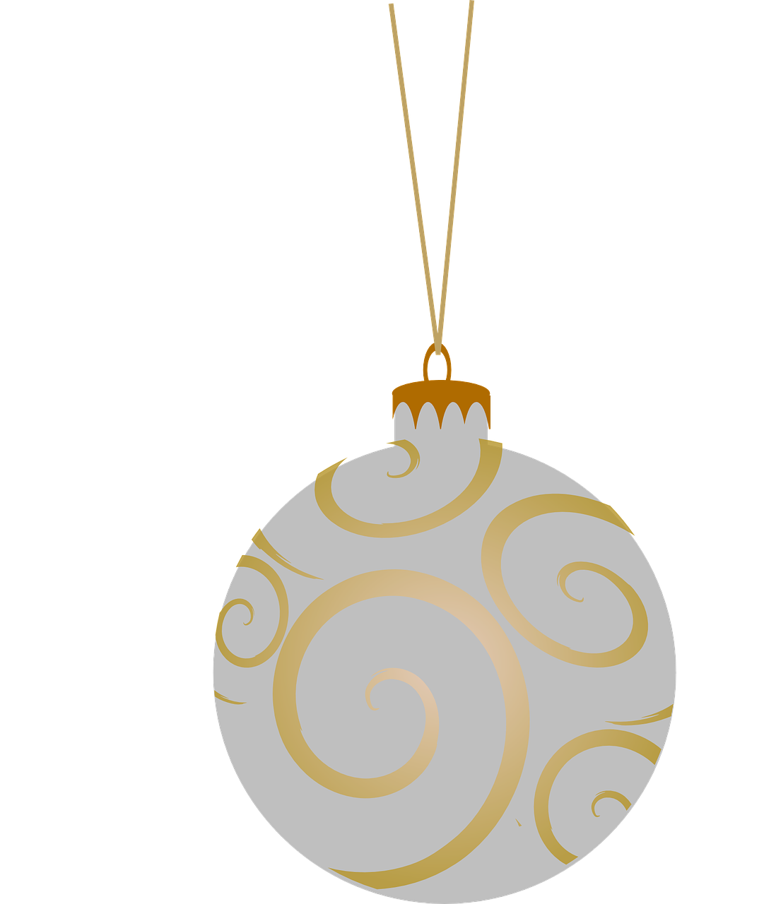 how to draw a Christmas ball, bauble 2