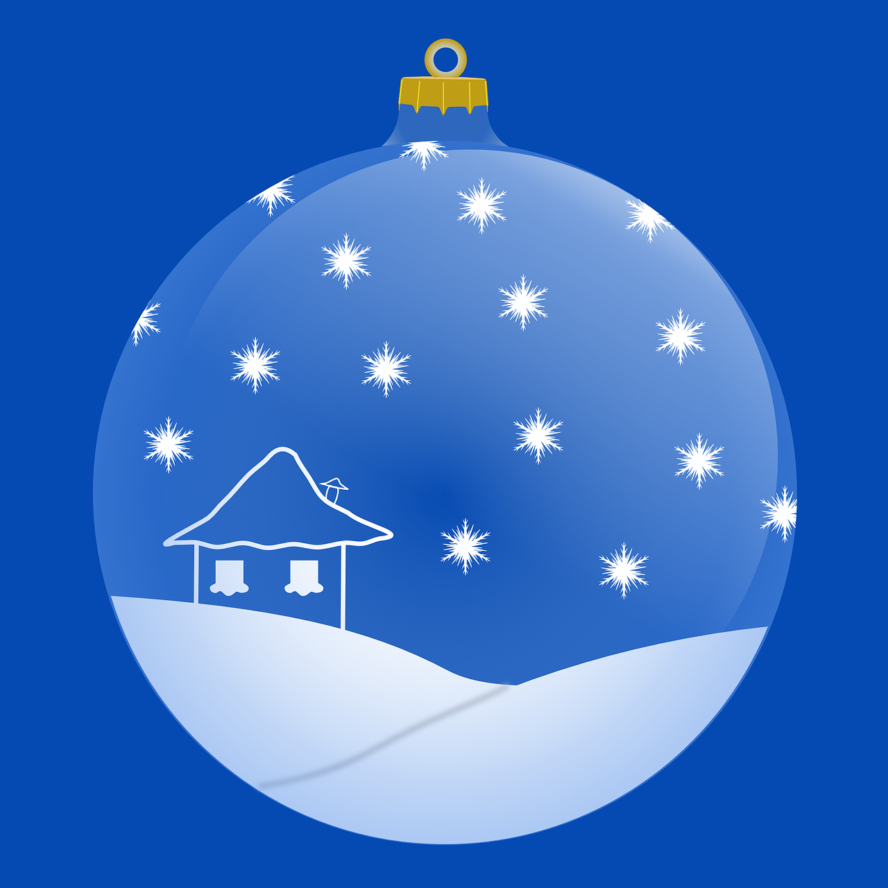how to draw a Christmas ball, bauble 5