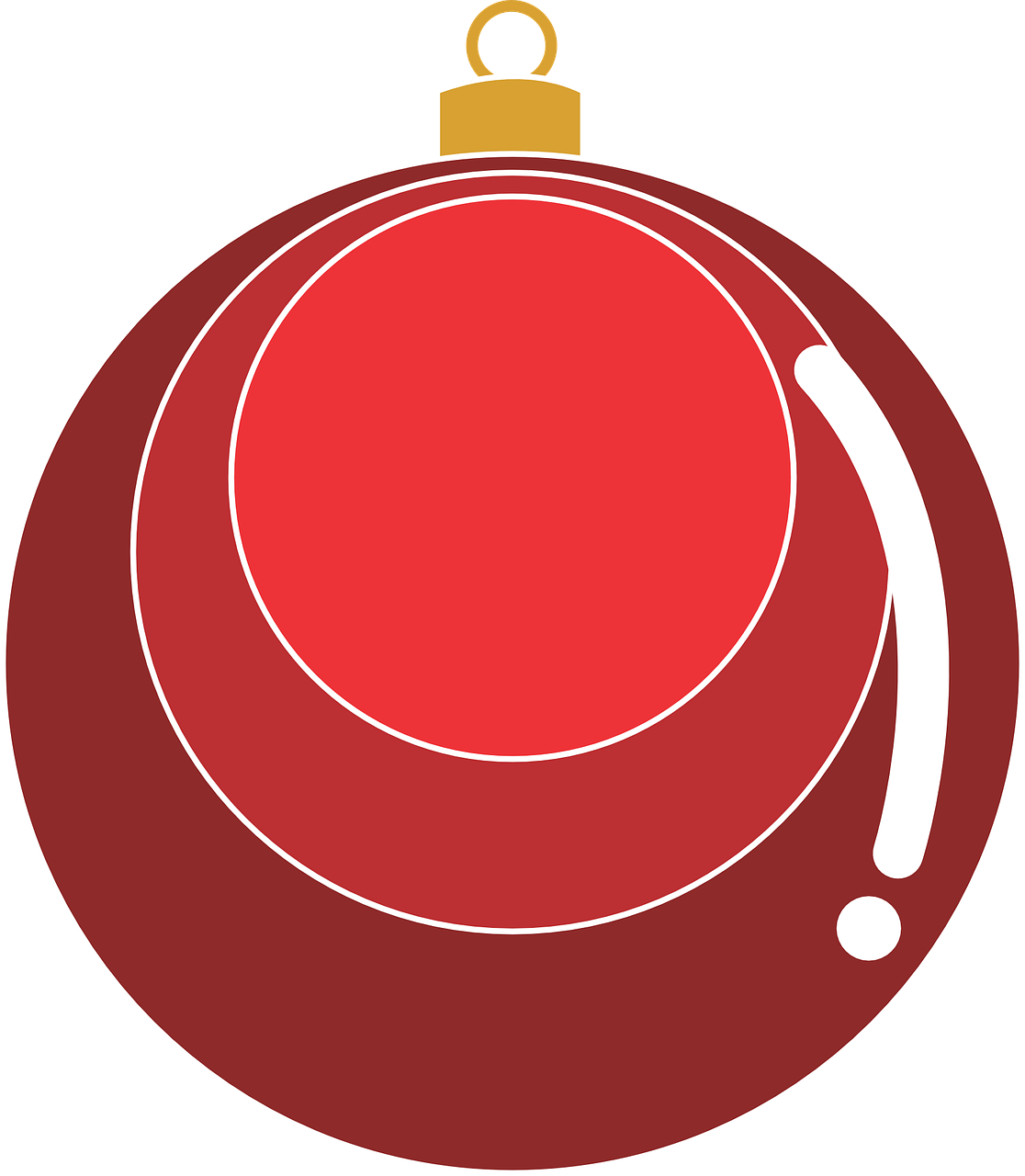 how to draw a Christmas ball, bauble 6