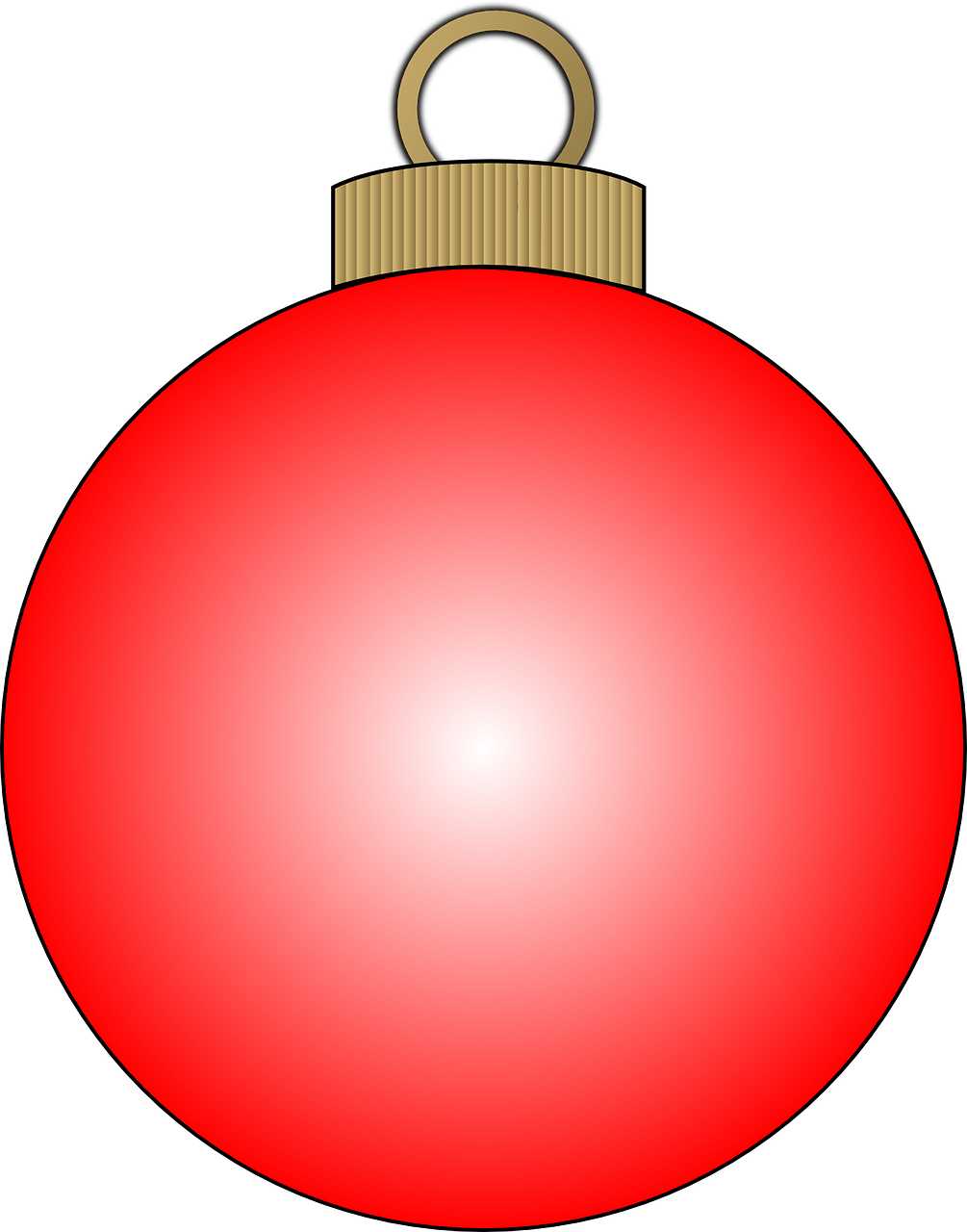 how to draw a Christmas ball, bauble 7