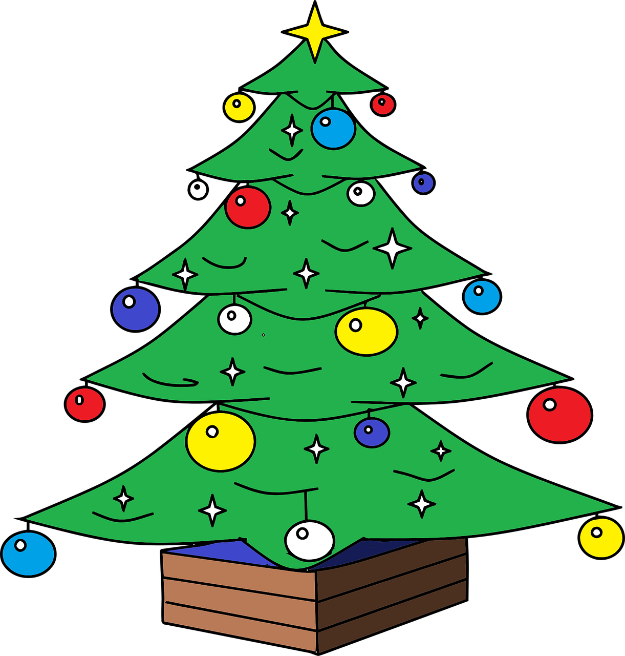 how to draw a Christmas tree 4