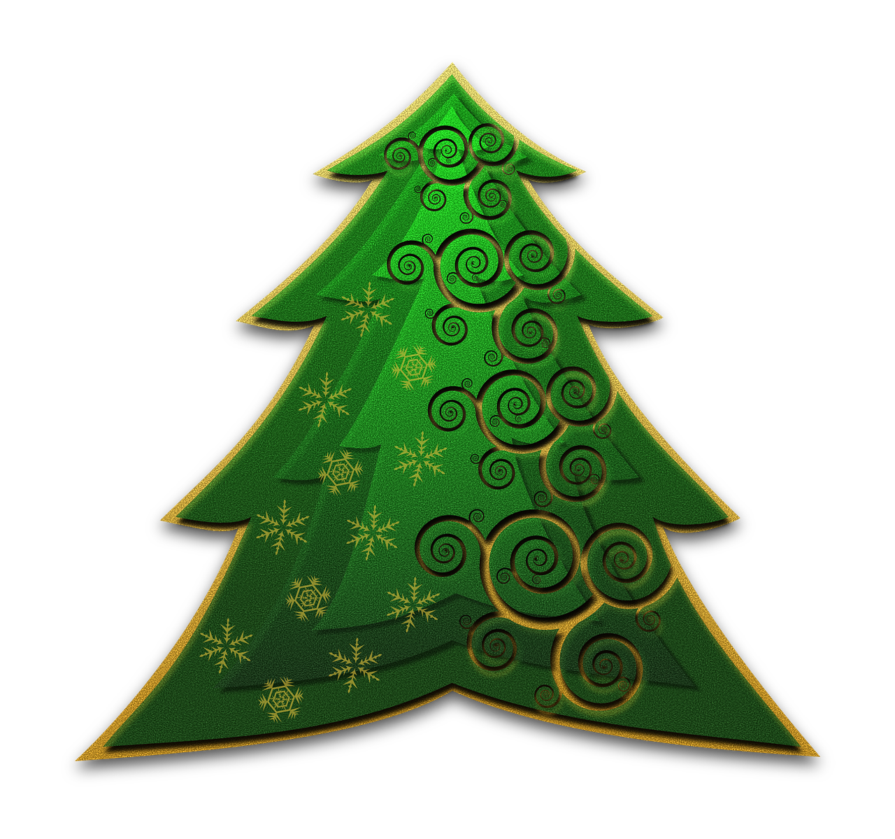 how to draw a Christmas tree 8