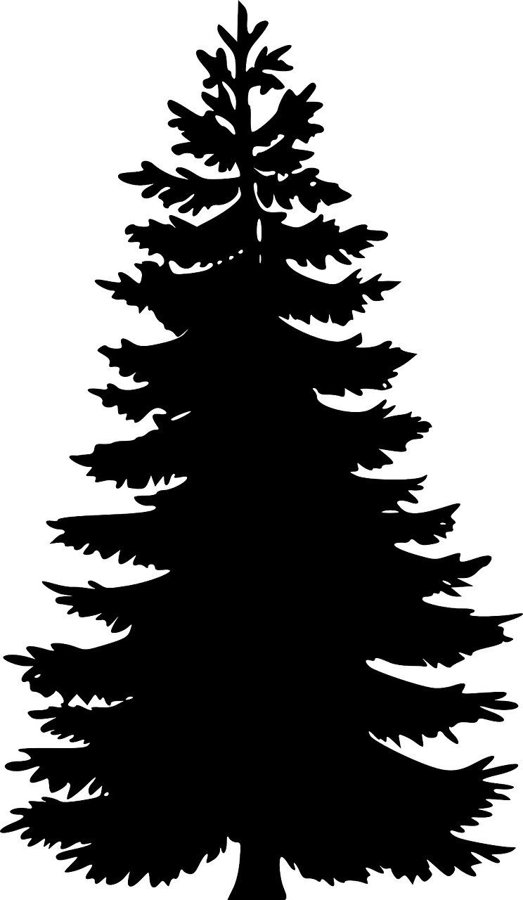 how to draw a Christmas tree, stencil 3
