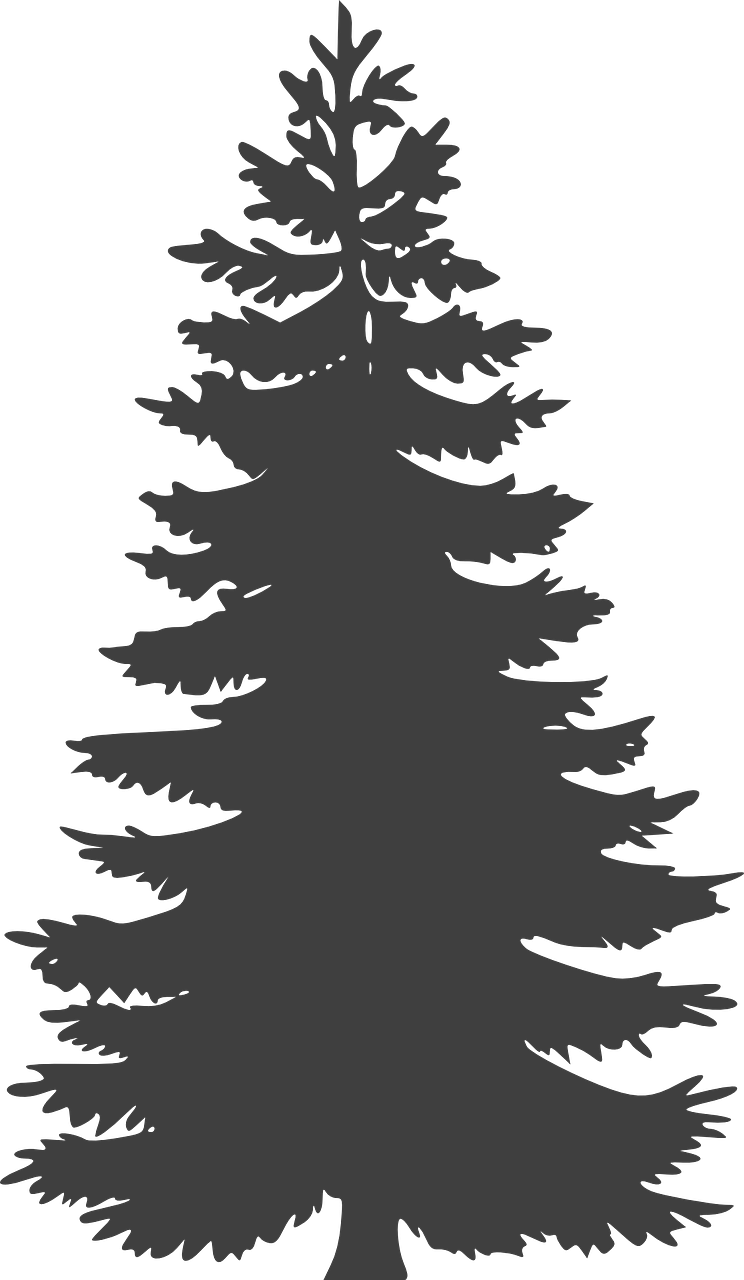how to draw a Christmas tree, stencil 6