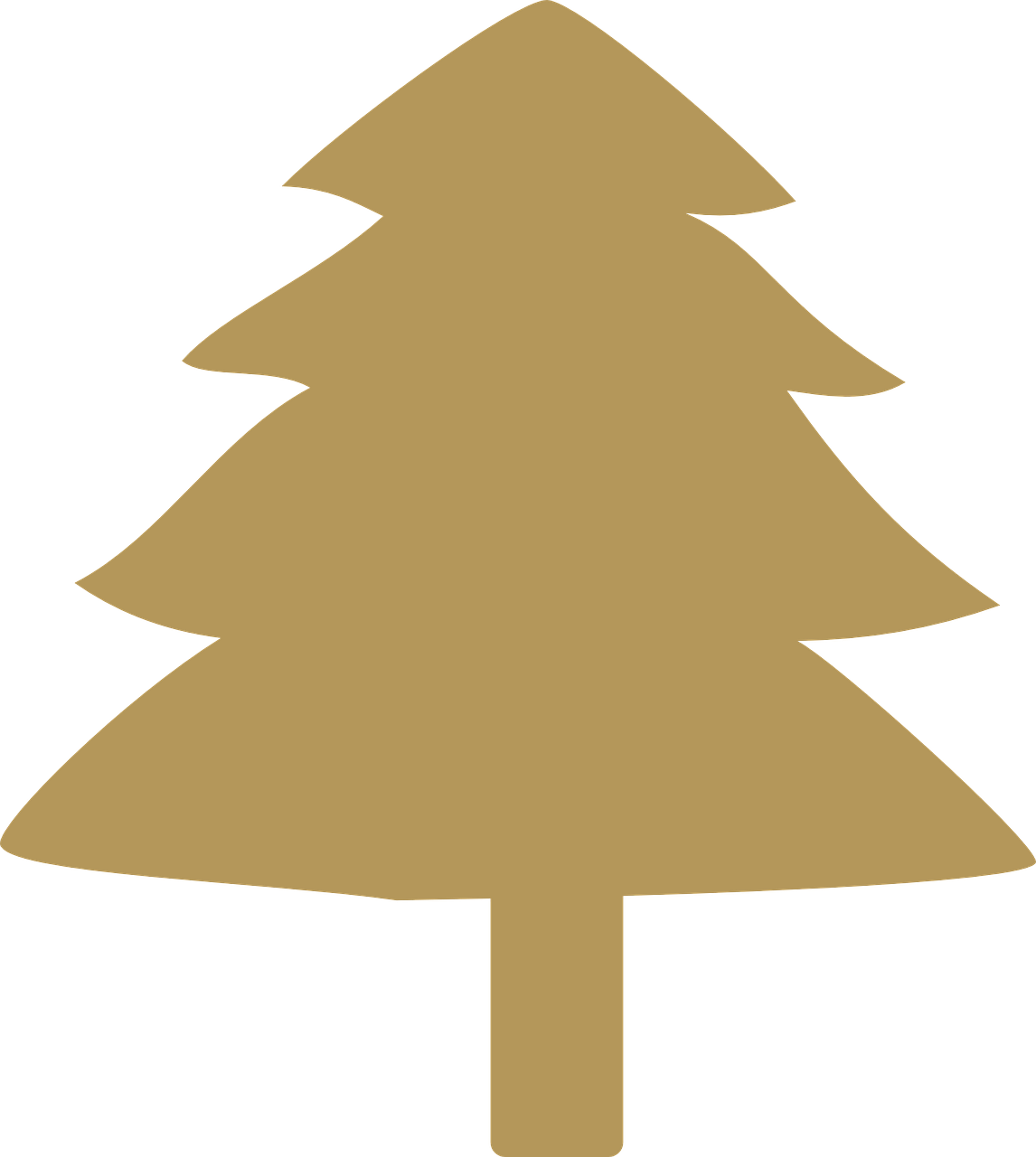 how to draw a Christmas tree, stencil 9
