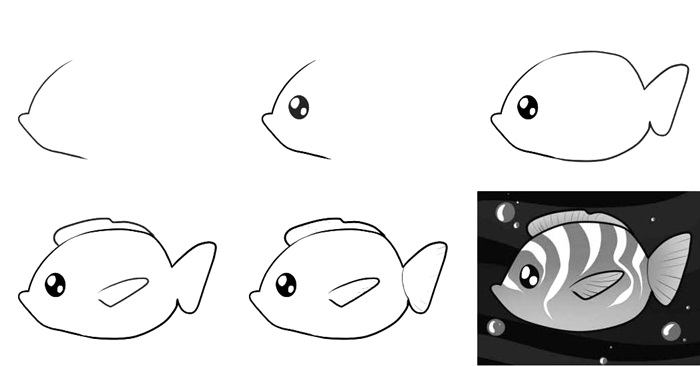how to draw a fish 14