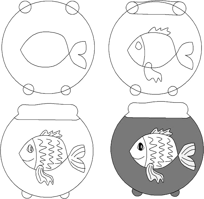 how to draw a fish 36
