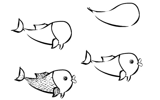 how to draw a fish 54