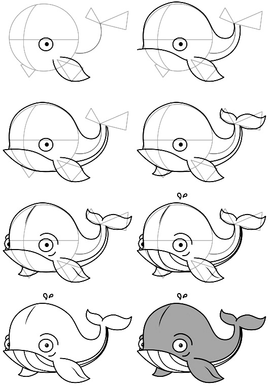 how to draw a fish 62
